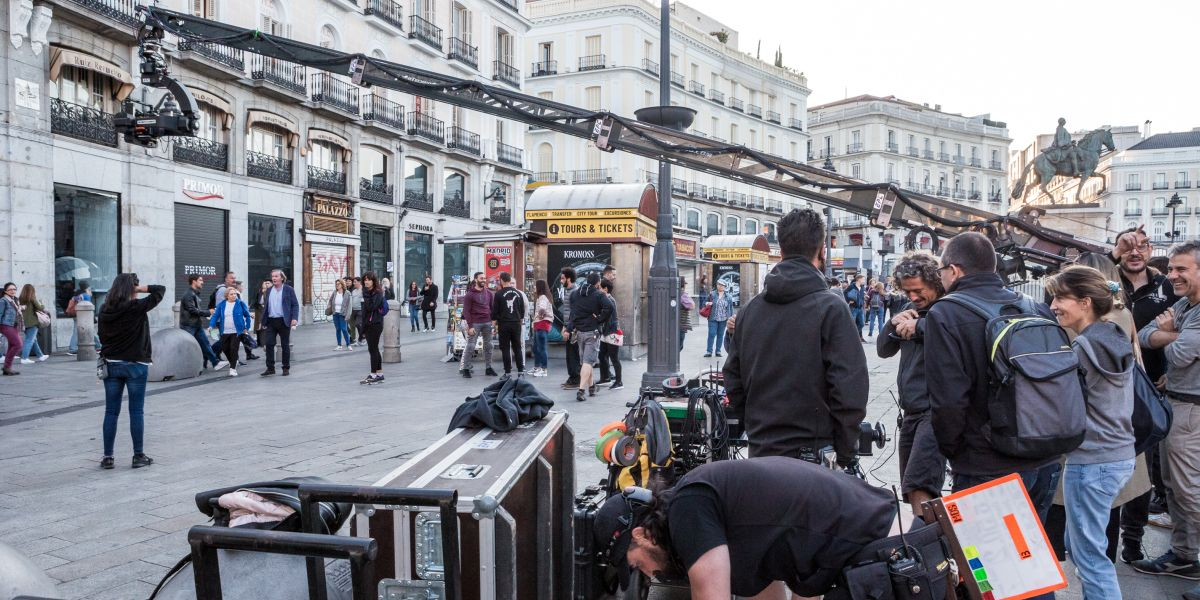 "Shooting of the film ""La Unidad"" in Sol"