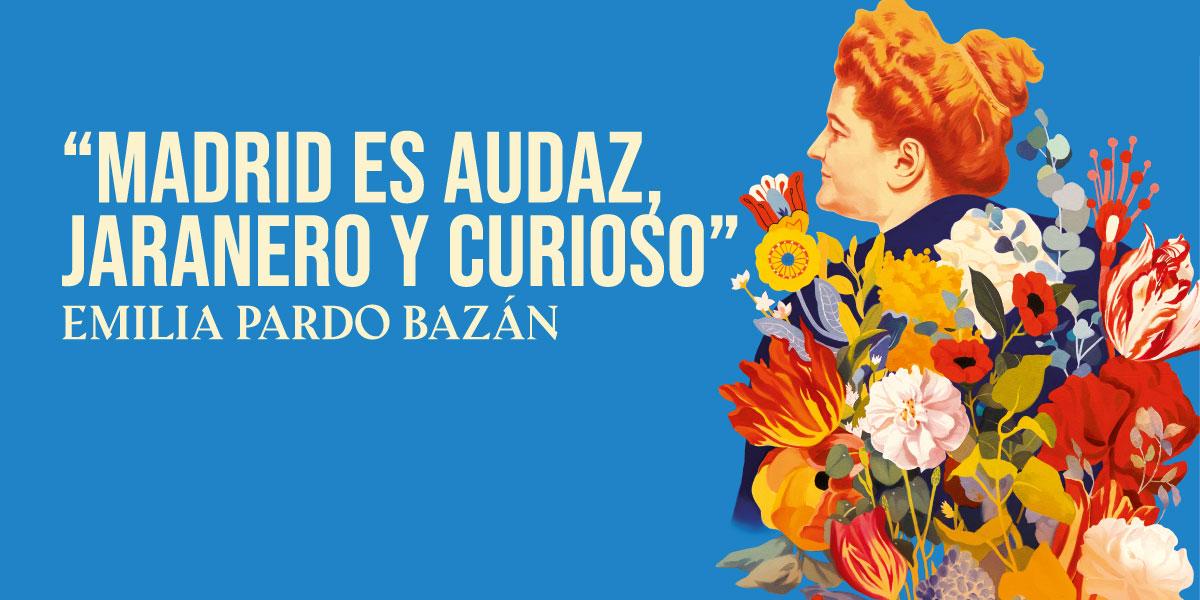 Cartel del centenario Emilia Pardo Bazán