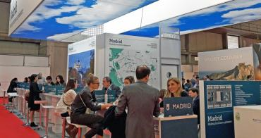 Estand de Madrid en la feria IBTM World de Barcelona