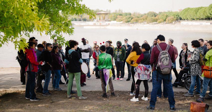 Una Fiesta Fuera De Lo Comun En El Parque De Pradolongo Para