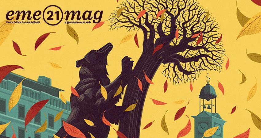 Francesco Bongiorni recrea a la osa y el madroño más famoso de Madrid en la portada de 'eme21magazine'
